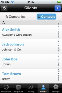 List of Clients in iPhone App