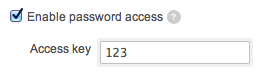 password-protected access to the proposal