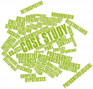 Word cloud for Case study