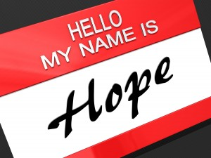 Hello My Name is a Hope.