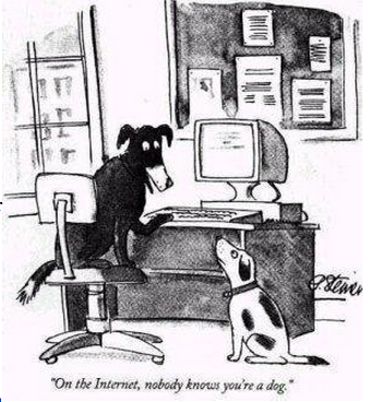 """The New Yorker """"On the Internet, no one knows you're a dog."""""""