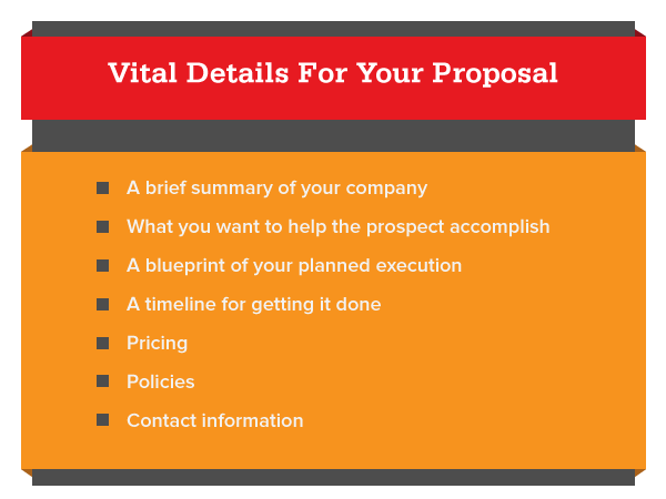 Vital details for your proposal
