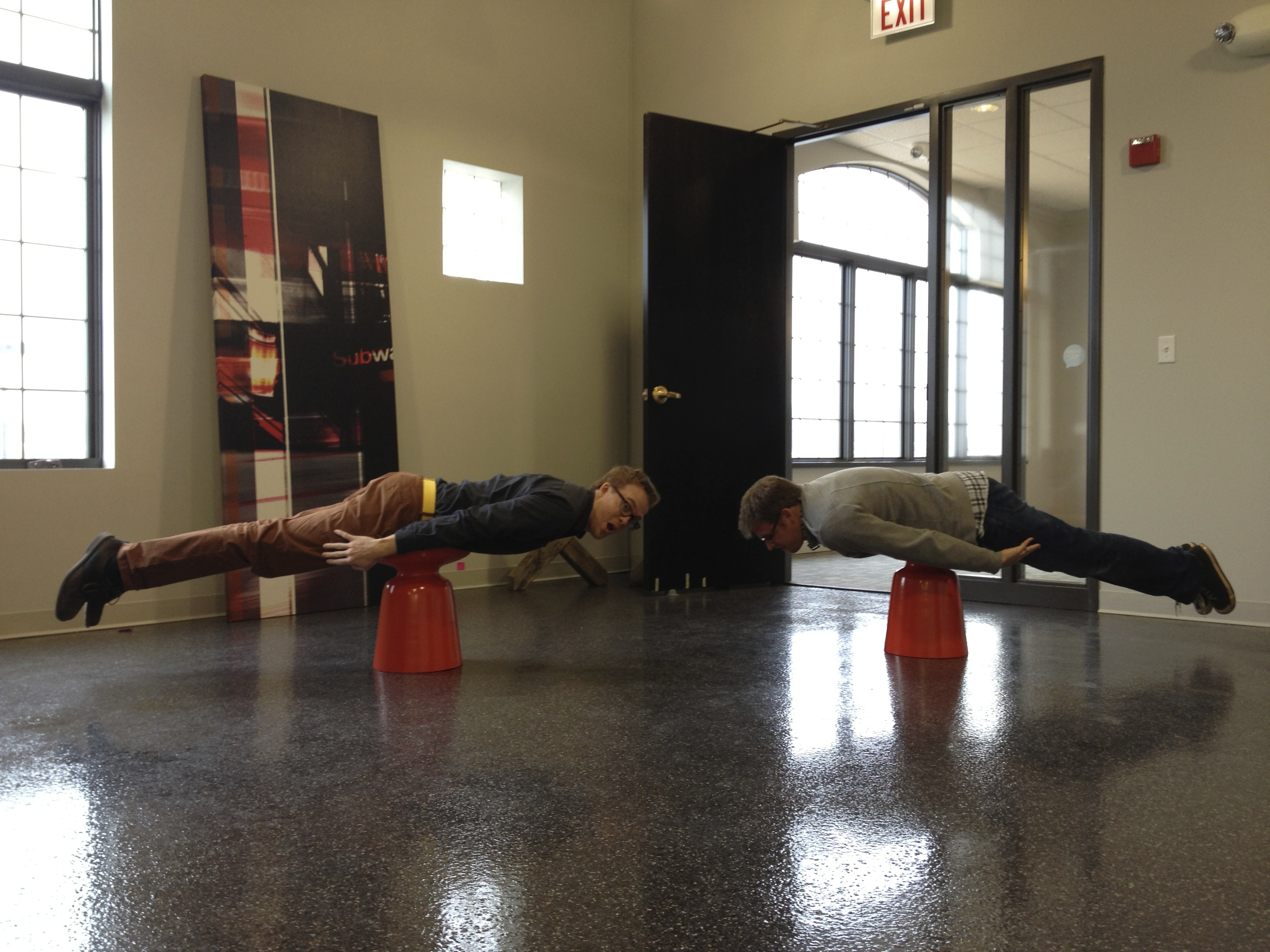 Tim and Toby planking