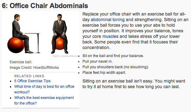 Office Ab exercises